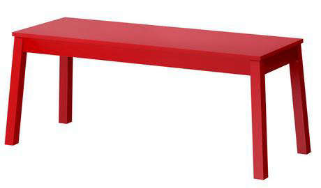 Elegant Above: The Sigurd Bench From Ikea Is Available In Red Or White And Is  $79.99. The Original Moooi AVL Bench Is $1,193 At Stardust.