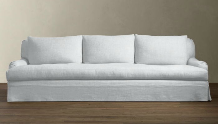 10 easy pieces the perfect white sofa remodelista for White linen sectional sofa