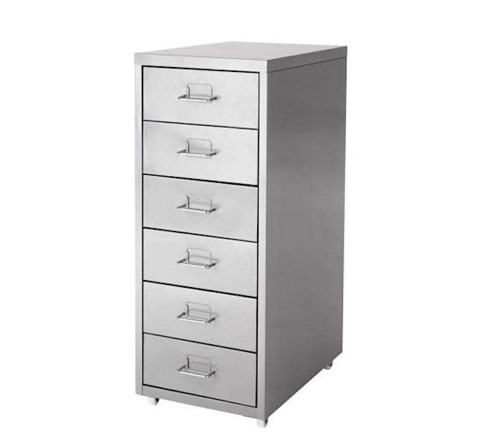 Above: The Budget Option For Smaller Storage Needs, The Helmer Drawer Unit  Offers Convenient Casters And Six Drawers. Made Of Powder Coated Steel, ...