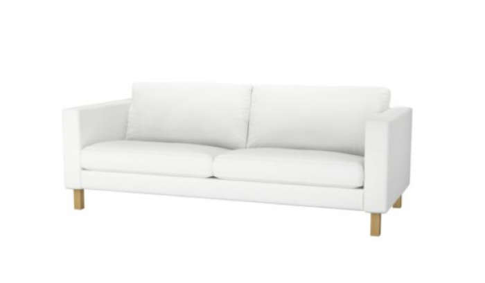 Above: Karlstad Sofa in Blekinge White; $399 at Ikea.