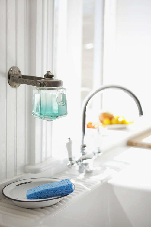 Design Sleuth Vintage Soap Dispenser As Dish Soap Holder