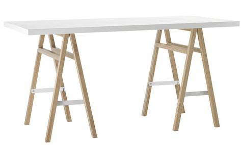 Above The Collapsible Sawhorse Table Features Solid Wood Ash Legs And An Engineered Top With Lacquer Gloss 245 At West Elm