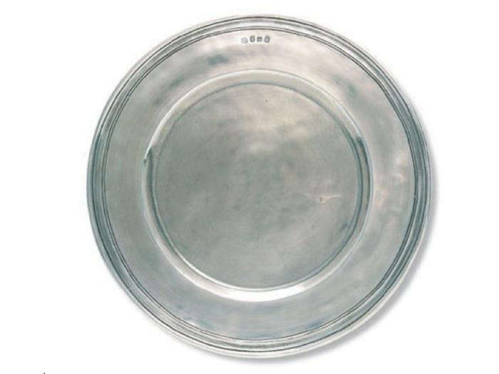 Above A pewter charger handmade in Northern Italy from Match. The companyu0027s pewterware is comprised of 95 percent tin and each piece is st&ed with a ...  sc 1 st  Remodelista & High/Low: Rustic Pewter Dinner Plates - Remodelista