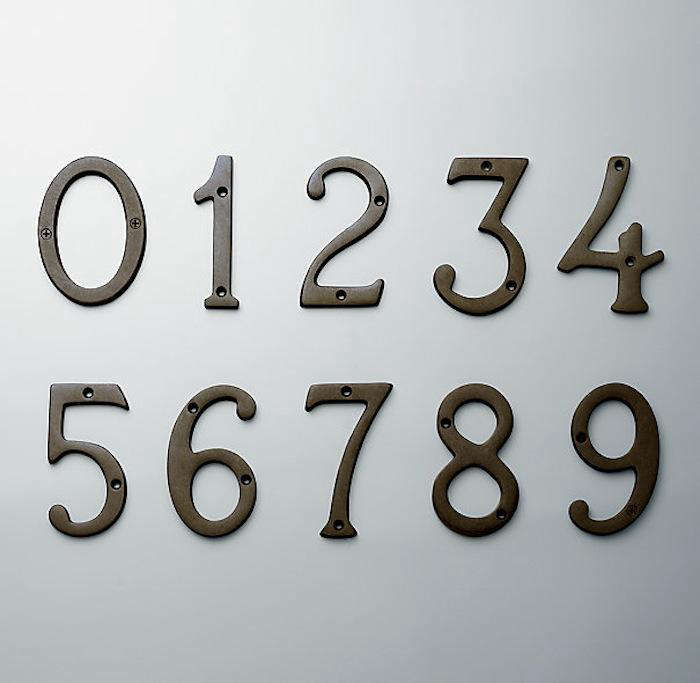 Easy Pieces House Numbers Remodelista - Cheap metal house numbers