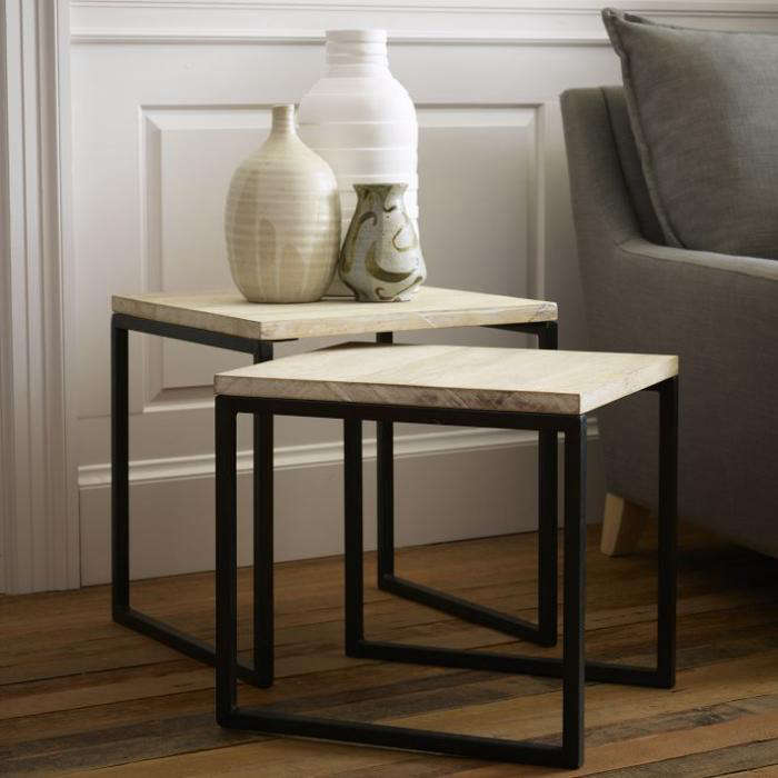 Marble Ayva Nesting Coffee Tables Set Of 2: 10 Easy Pieces: Slim Side Tables