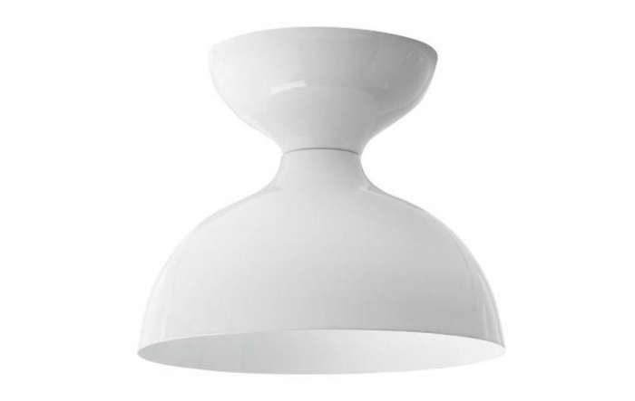 Highlow simple ceiling light remodelista above the alabax surface fixture is available in white and black porcelain and is 135 aloadofball Images
