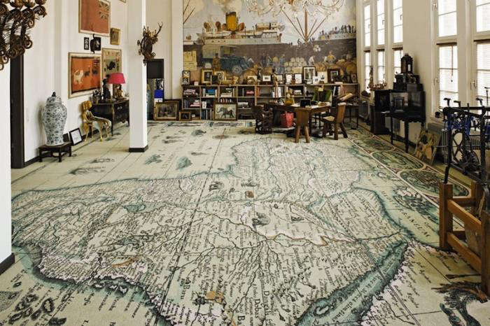 The World at Your Feet: A Map Rug from Italy   Remodelista