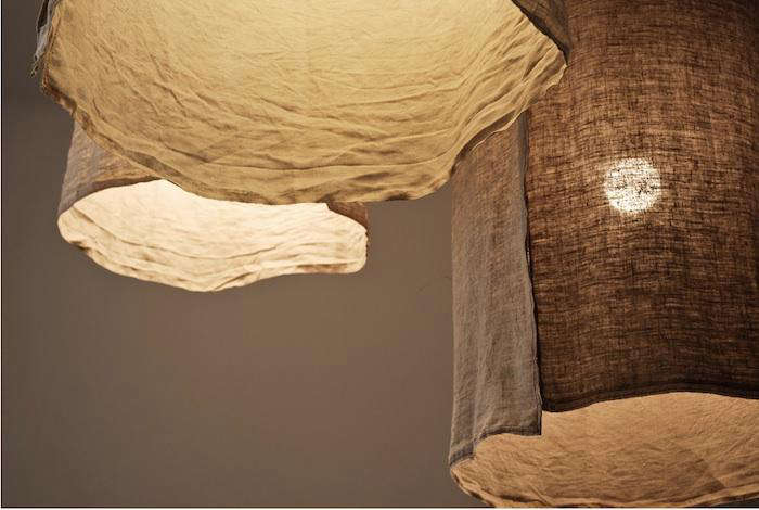 diy rustic linen lampshades from italy