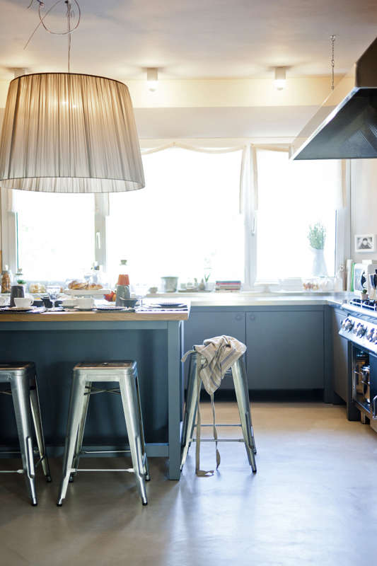 A centuries-old villa in Pergola serves breakfast in itssunny working kitchen. VisitMalatesta Maison: Farmhouse Chic in Italy.