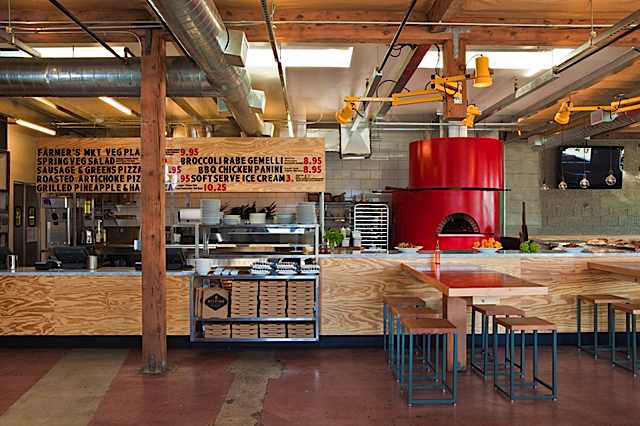 Pizza Kitchen Layout restaurant visit: pitfire pizzabarbara bestor in la - remodelista