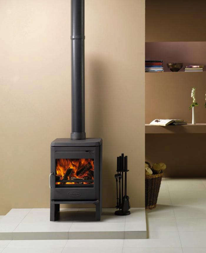 Above: Our UK-based readers can consider the Dovre Astroline 350CB, a clean- burning, high-efficiency cast-iron wood stove with a small footprint.
