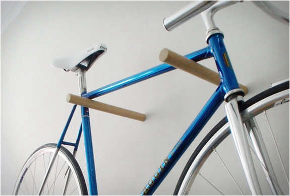 Minimal Wood Bicycle Hook - Remodelista