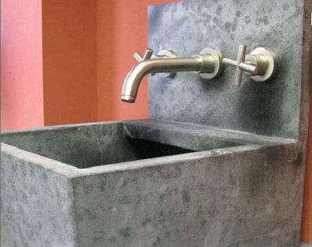 Above A Custom Washbasin By M Teixeria Soapstone