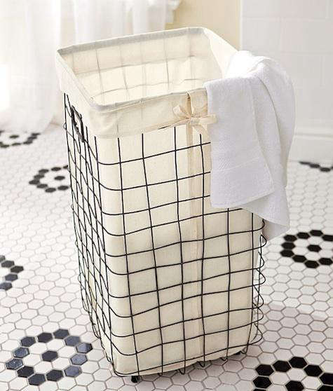 Best Domestic Science: Wire Laundry Basket from Pottery Barn - Remodelista EO41