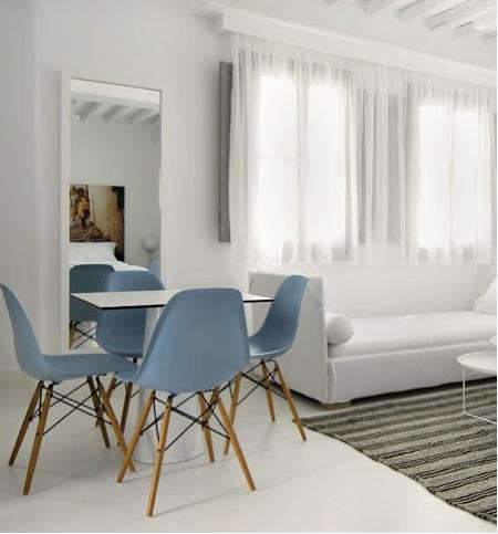 palette paints blue dining chairs remodelista