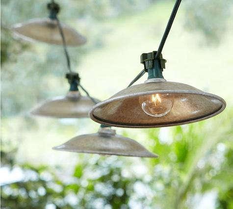 Awesome Above: Pottery Barn Café String Lights; $39.
