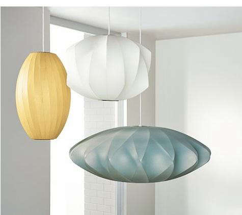 Lighting: Multicolored Nelson Pendants at Room & Board