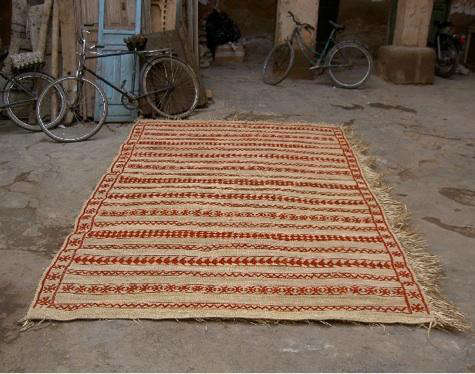 Design Sleuth: Embroidered Straw Rugs From Morocco