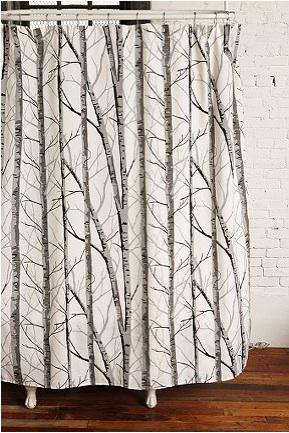 Bath Birch Shower Curtain From Urban Outfitters