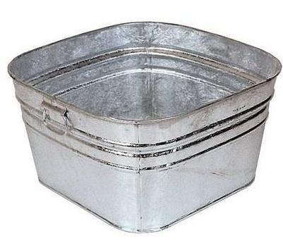 Galvanized Square Wash Tub
