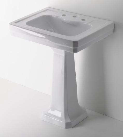 New Above Waterworks Exeter Pedestal Sink is inches wide and es in white or ivory for the white sink and pedestal