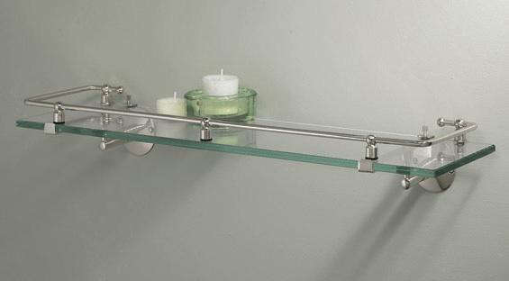 Good Above Glass Bath Vanity Shelf with Rail by Gatco measures inches wide shown in Chrome for at Vintage Tub and Bath
