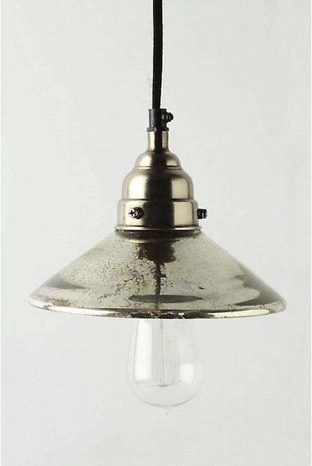 Superb Lighting Mercury Glass Pendant Lights at Anthropologie