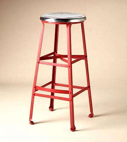 Wondrous Furniture Industrial Red Metal Stools Remodelista Cjindustries Chair Design For Home Cjindustriesco