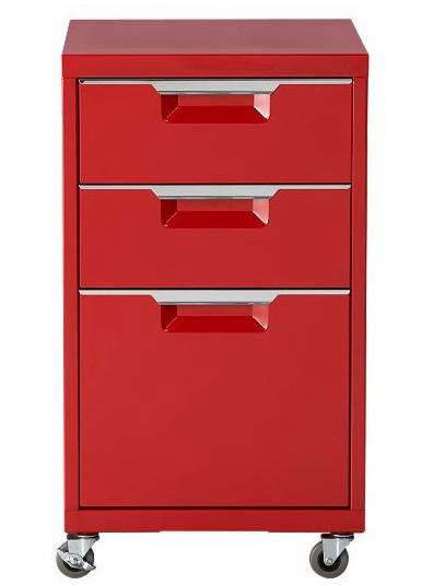 Above The TPS File Cabinet in red powder-coated steel (also available in carbon or white) features 2-inch castors with brakes on the front two wheels; ...  sc 1 st  Remodelista & Office: Red Storage Accessories - Remodelista