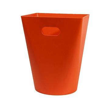 Above The Midi Square Wastebasket Is Available In Orange Red Or Black And 13 8 Inches High 40 At Workdesign