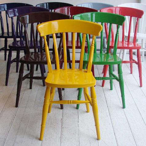 ... Howe in London); this week weu0027re admiring his custom-painted Windsor Chairs (u201cWe should all have at least one in a heart-rending coloru201d Howe says). & Furniture: Painted Windsor Chairs from Howe in London - Remodelista