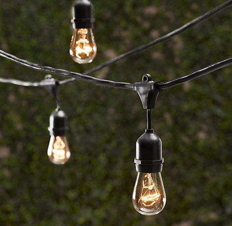 Above: Pottery Barn Fisherman Outdoor String Lights; $29.