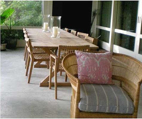 Design Sleuth: Porch Dining Furniture On Long Island