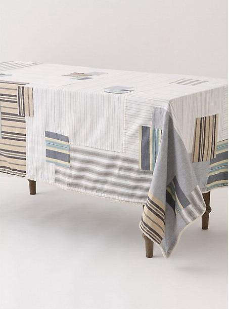 Anthropologieu0027s New Patched Mainsail Line Of Table Linens Has A Similarly  Relaxed, Vaguely Nautical Vibe.