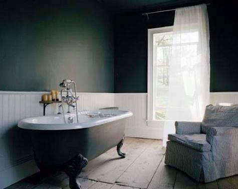 Cute Bath Black Painted Bathtub Roundup