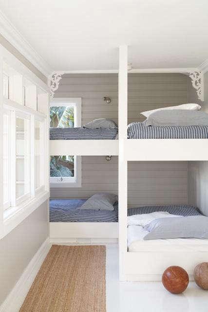 Lovely Above A bunk room in Australia by designer Justine Hugh Jones via Desire to Inspire