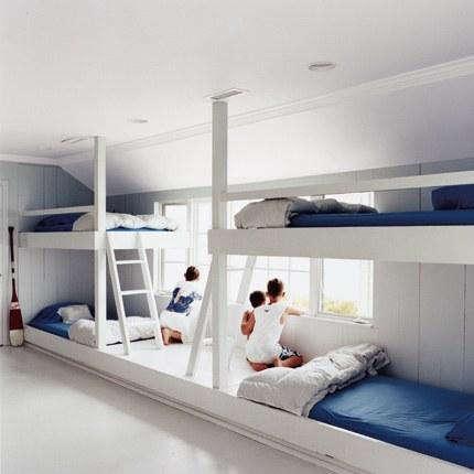 Fancy Above A bunk room via Marie Claire Maison