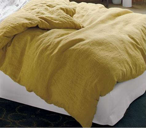 High Low Gray And Saffron Bed Linens Remodelista
