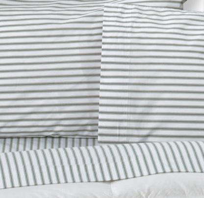 Above: L.L. Beanu0027s Seagrass Ticking Stripe Percale Sheet Set; $59.99 For A Twin  Sheet Set (includes A Fitted Sheet, A Flat Sheet, And Two Pillowcases); On  ...