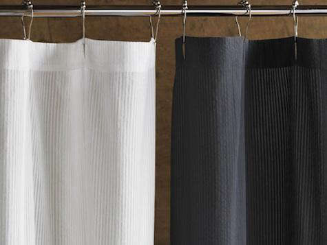 Bath: New Seersucker Shower Curtains from Coyuchi - Browse Shower Curtains Archives On - Remodelista