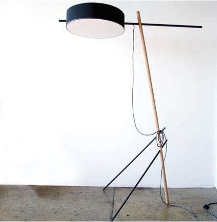 10 easy pieces tripod floor lamps remodelista above designed by the manhattan based rich brilliant willing collective the excel floor lamp features a gold foil diffuser in the shade which creates aloadofball Gallery