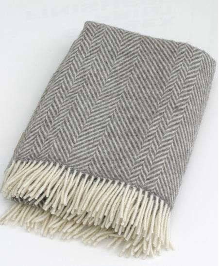 Above  Herringbone Jacob Wool Throw from Green Grove Weavers of Scotland    68 at Cotton Vale  cushions are also available for  32 50. Design Sleuth  Jacob Wool Blankets and Throws   Remodelista