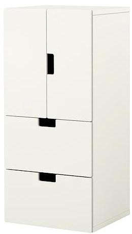 above r the stuva cabinet with two drawers stands 50 38 inches tall and measures 23 58 inches wide
