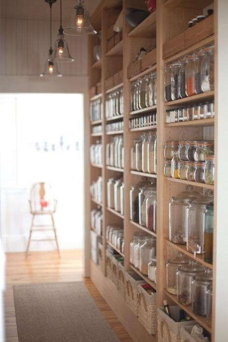 The key to open-shelved pantries lies in the collection of storage vessels; neatly arranged rows of glass jars add a uniform note to open shelving displays ... & Kitchen: Open Shelf Storage Roundup - Remodelista