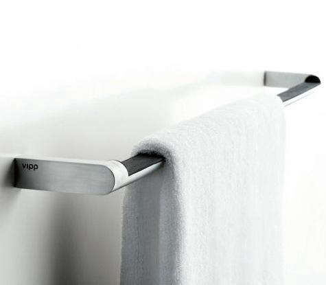 Above The Danish Made Vipp 8 Towel Bar In Stainless Steel With Rubber Grip Is 24 Inches Long And Costs 245 At Dwr