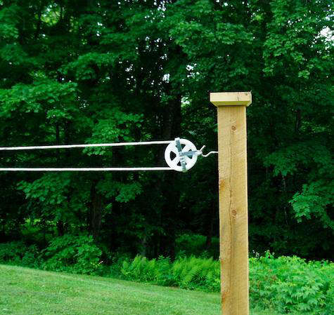 How To Build A Clothesline On A Deck