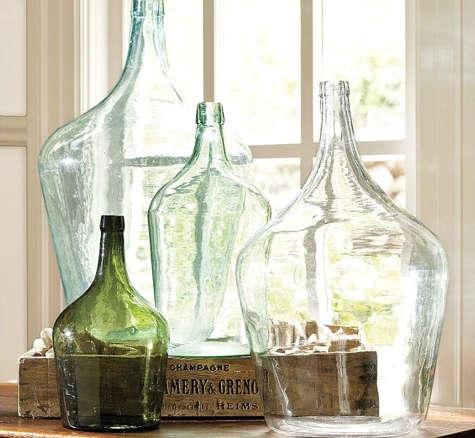 Found Oversized Wine Bottles