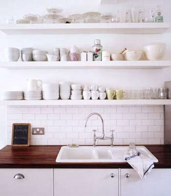 Great Below: Open Kitchen Shelves From The Portfolio Of Daniel Farmer. Amazing Ideas