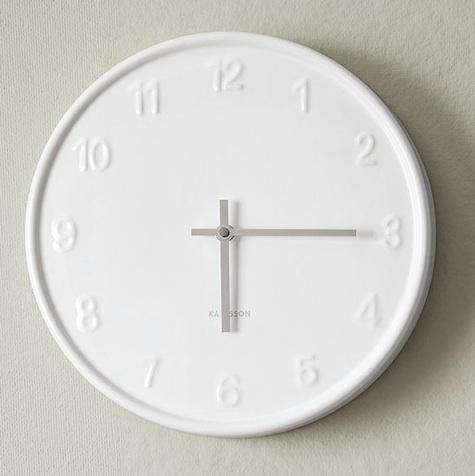 Above The White On Wall Clock Also By Karlsson Is 79 At West Elm
