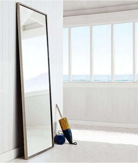 Metal floor mirror for Black framed floor length mirror